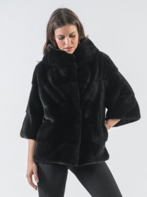 18. Black Mink Fur Jacket With 78 Sleeves 3 900x797 300x400 КУПИТЬ ШУБУ НА САДОВОДЕ