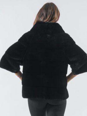 18. Black Mink Fur Jacket With 78 Sleeves 6 900x797 300x400 КУПИТЬ ШУБУ НА САДОВОДЕ