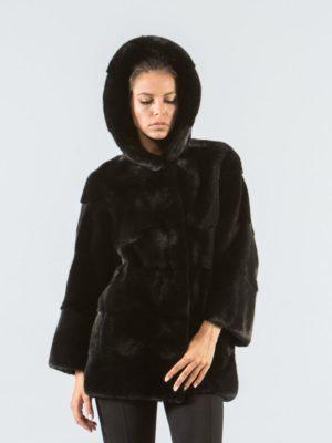 Black Mink Fur Jacket With Hood 4 900x1177 300x400 КУПИТЬ ШУБУ НА САДОВОДЕ