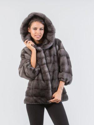 Blue Iris Mink Fur Jacket With Hood 5 900x1245 300x400 КУПИТЬ ШУБУ НА САДОВОДЕ
